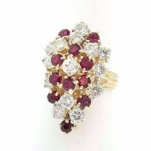 Heavy 14K Gold Exquisite 2.36CT G SI Diamond Ring